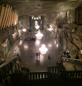 The Catholic Chapel carved out of salt. 125m underground.