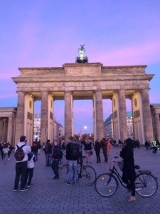 Brandenburg Gate at dusk (the back)