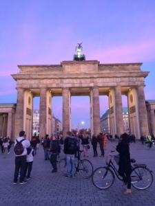 Brandenburg Gate at dusk (the back)
