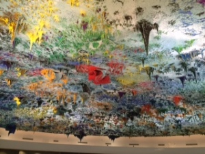 My favourite room in the UN. This ceiling art was a gift from Spain